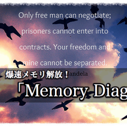 Macの動作がなんだか重い。無料のメモリ解放アプリのMemory Diagで解決しようそうしよう