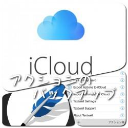 Textwellのヒストリーやアクションが消えてしまった!を防ぐ方法。iCloudに定期的にバッアップを取ろう
