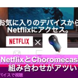Netflixの一ヶ月無料期間を試してみたら快適すぎてChromecastも買ってしまった